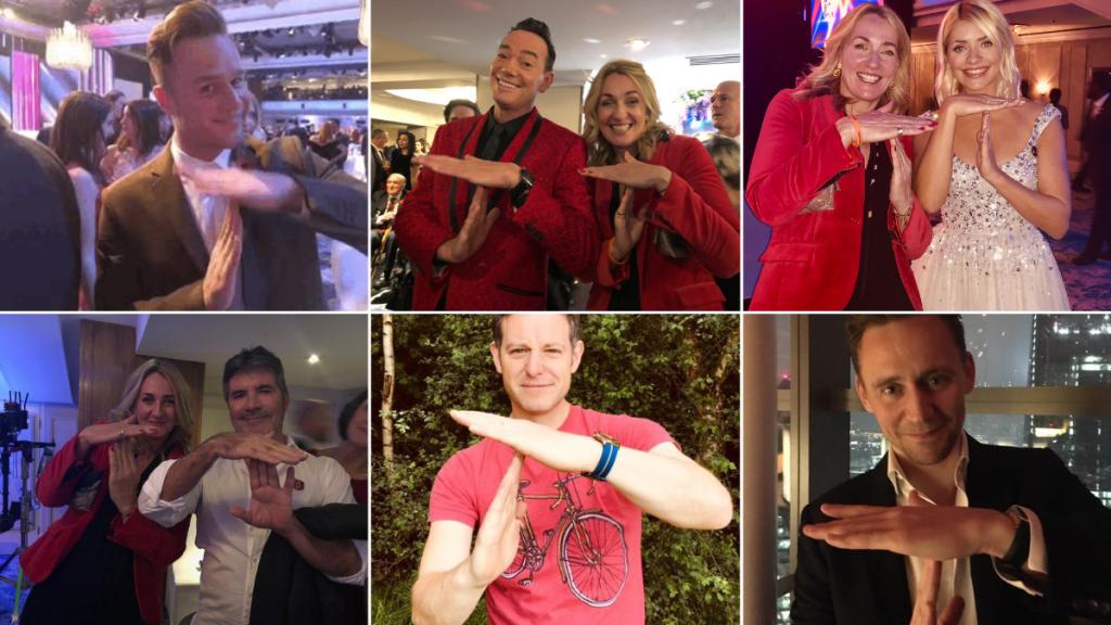 Celebrities doing a #TforTom