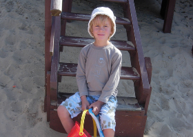 Tom at the beach