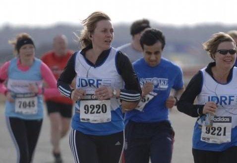Debs running at Silverstone