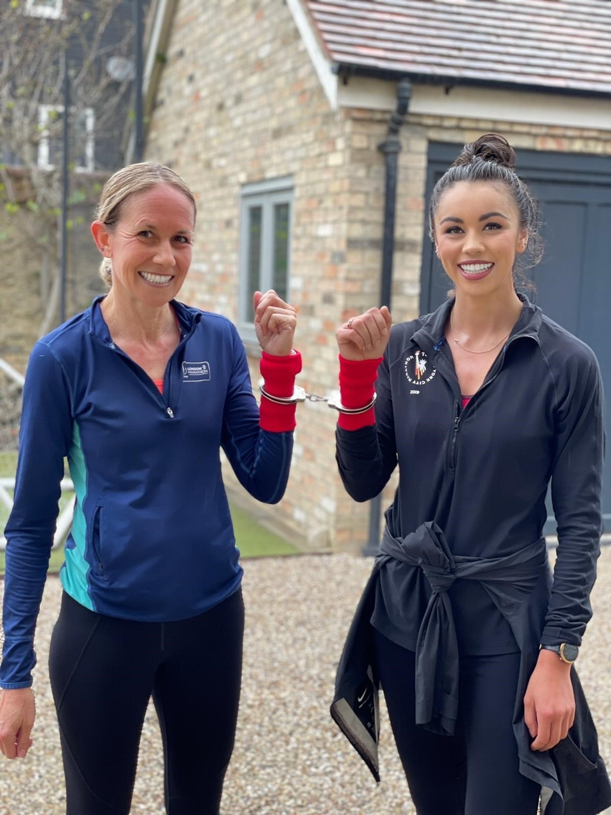 Kerry and Troi setting off on a training run