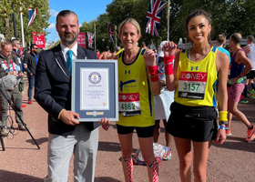 Kerry and Troi presented with their Guinness World Record certificate